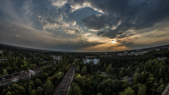 Pripyat landscape nowdays wallpaper
