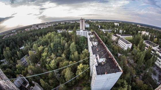 Chernobyl and Pripyat aerial photography wallpaper