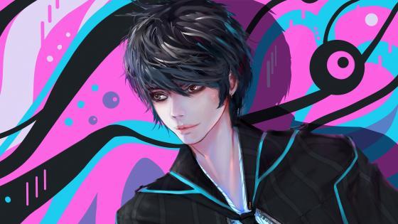 Anime guy illustration wallpaper