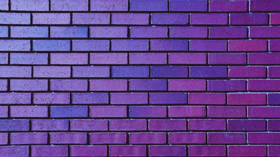 Purple brick wall wallpaper