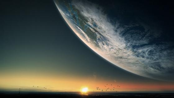 Sun and Earth - Epic Fantasy Landscape wallpaper