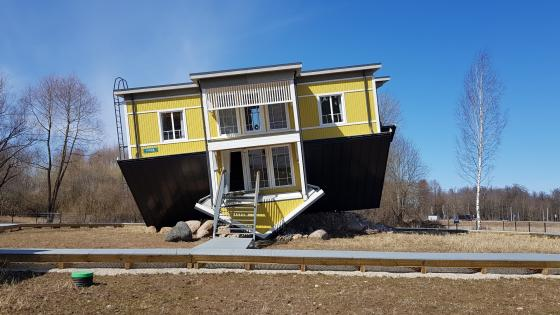 Up Side Down House (Tartu, Estonia) wallpaper