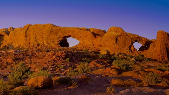 Arches National Park, North Window and South Window Arches wallpaper