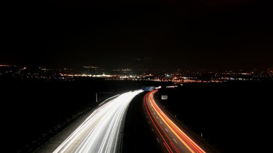 Highway long exposure wallpaper