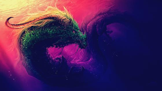 Colorful Dragon wallpaper