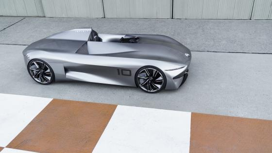 Infiniti Prototype 10 from above wallpaper