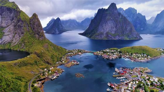 Nature of Lofoten (beauty and piece) wallpaper