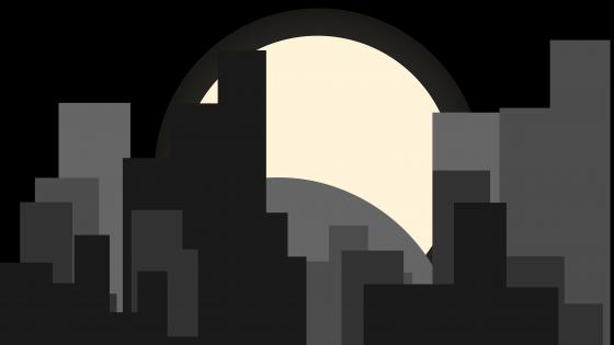 Material design night city wallpaper