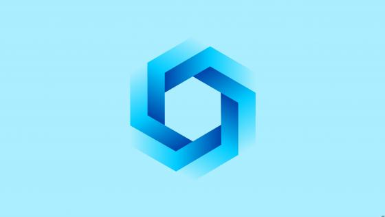 Blue hexagon material design wallpaper