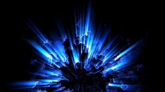 Glowing blue light wallpaper