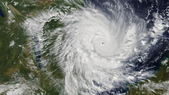 Kenneth Nearing Landfall in Mozambique wallpaper