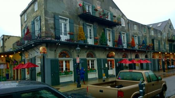 Christmas French Quarter Pizzeria wallpaper