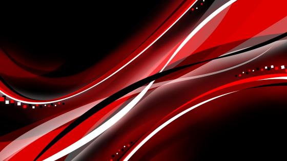 Black, red, and white waves wallpaper