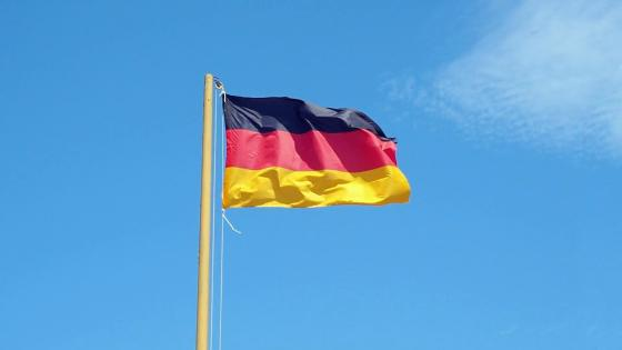 German flag on the blue sky wallpaper