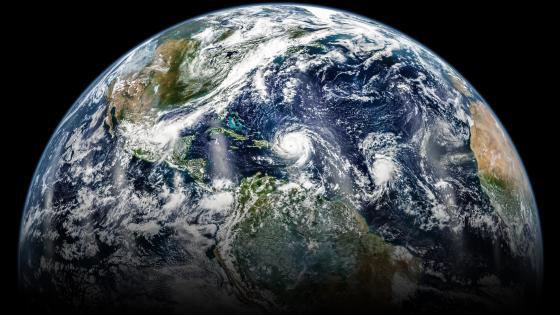 Three Hurricanes in the Atlantic wallpaper