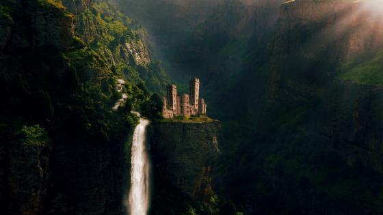 Fairy tale castle wallpaper