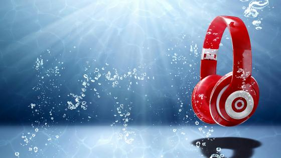 Red Headphones wallpaper