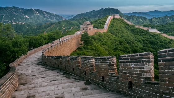 Badaling Great Wall in Yanqing County, Beijing, China wallpaper