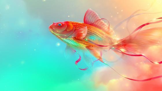 Goldfish Digital art wallpaper