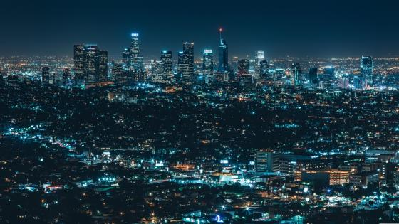 Luminous city (Los Angeles) wallpaper