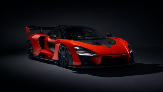 Red McLaren Senna wallpaper