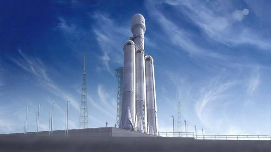 SpaceX Falcon Heavy mission wallpaper