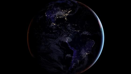 Earth from the space wallpaper
