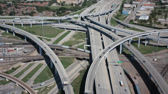 Interchange in Fort Worth, Texas wallpaper