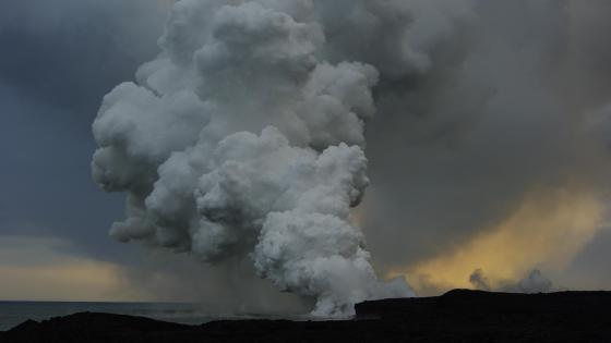 Puʻu ʻŌʻō Lava Stream wallpaper