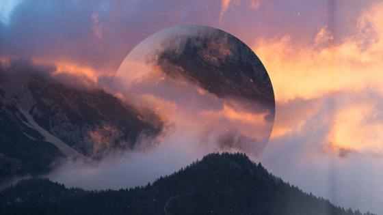 Giant moon wallpaper