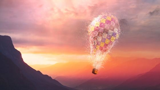 Magical air balloon wallpaper