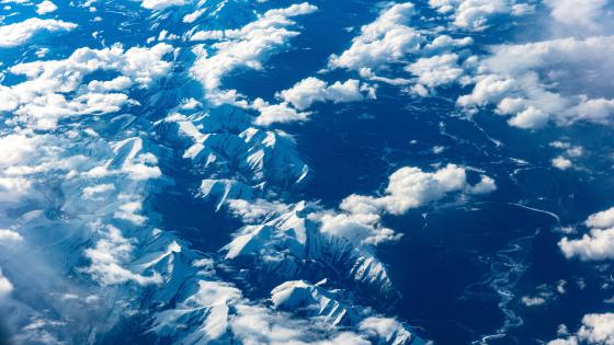 Mountains from above wallpaper