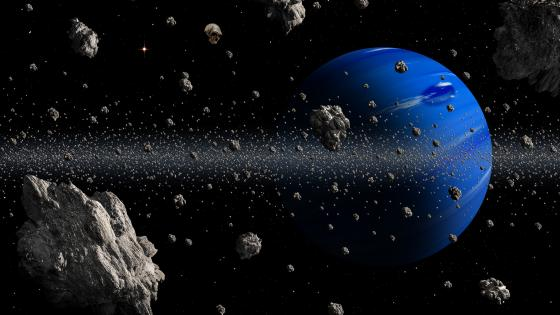 Blue planet and meteor shower wallpaper