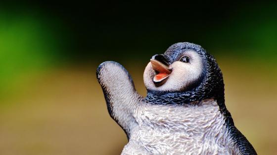 Penguin figure wallpaper
