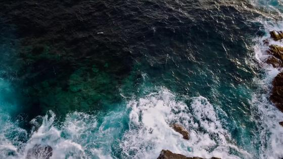 The sea from a cliff wallpaper