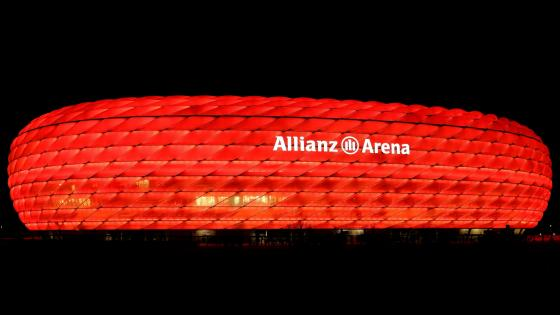 Allianz Arena Red Illumination wallpaper