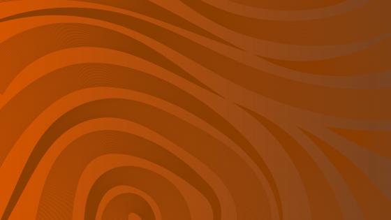 Wavy orange pattern wallpaper