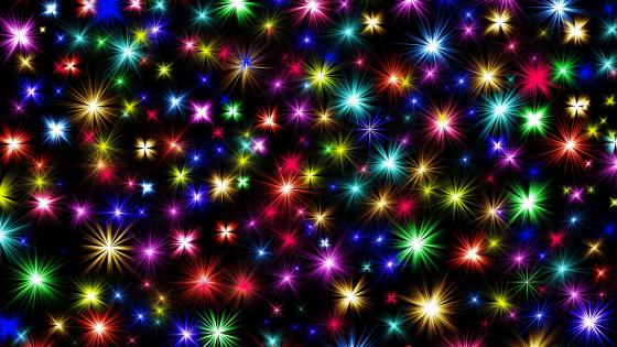 Glowing star lights wallpaper
