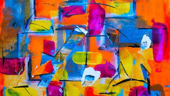 Colorful abstract painting wallpaper