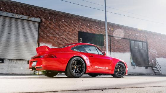 Red Porsche 911 Gunther Werks wallpaper