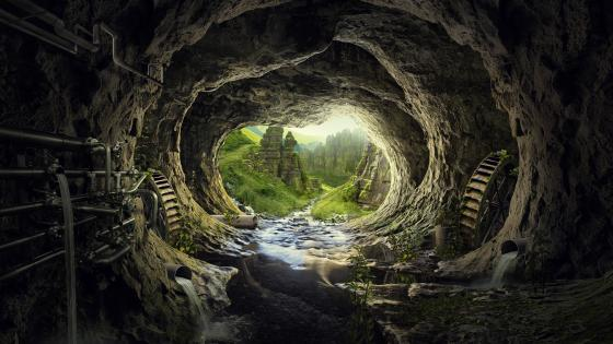 Cave Tunnel wallpaper