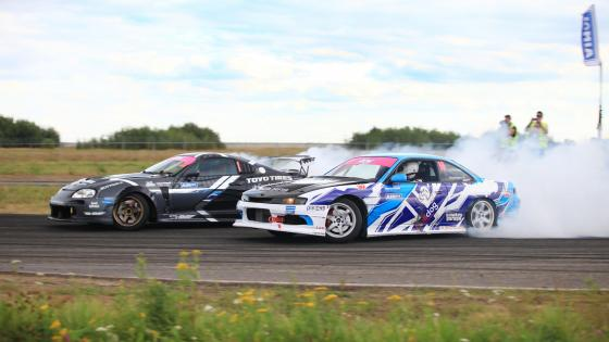 Nissan 200SX Drifting at Autodrom Moscow wallpaper
