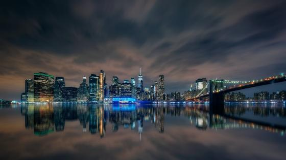 Manhattan from Brooklyn wallpaper