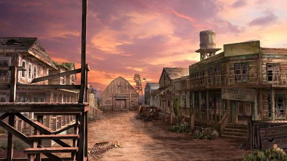 Wild West artistic drawing wallpaper