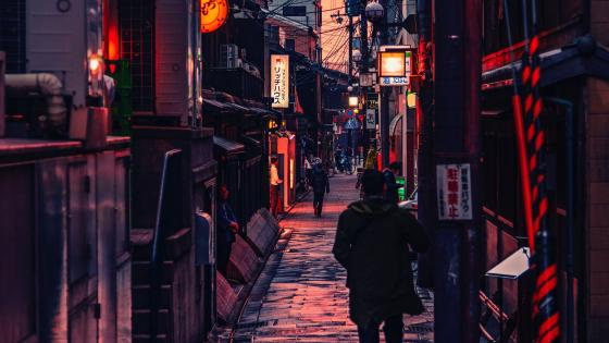 Alleyway in China wallpaper