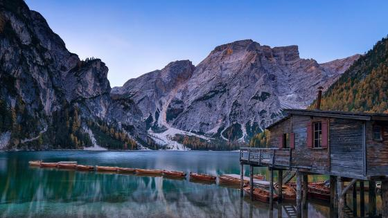 Pragser Wildsee (Lake Prags or Lake Braies) wallpaper
