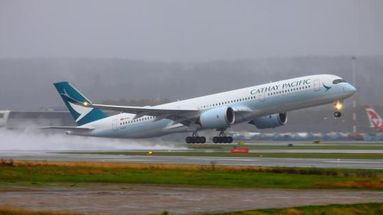 Airbus A350-900 During Takeoff at Vancouver International Airport wallpaper