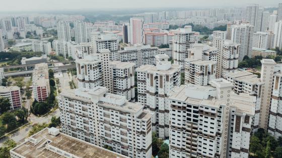 Tower Blocks in Singapore wallpaper