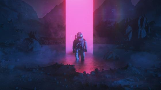 Astronaut Graphic Art wallpaper
