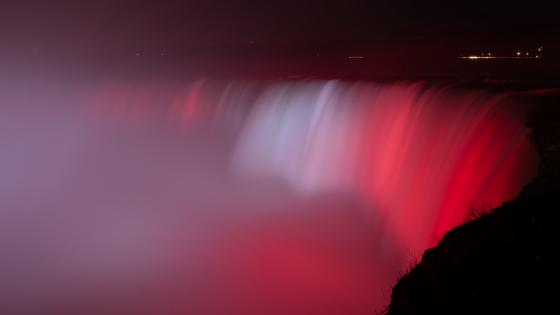 Niagara Falls on Canada Day wallpaper